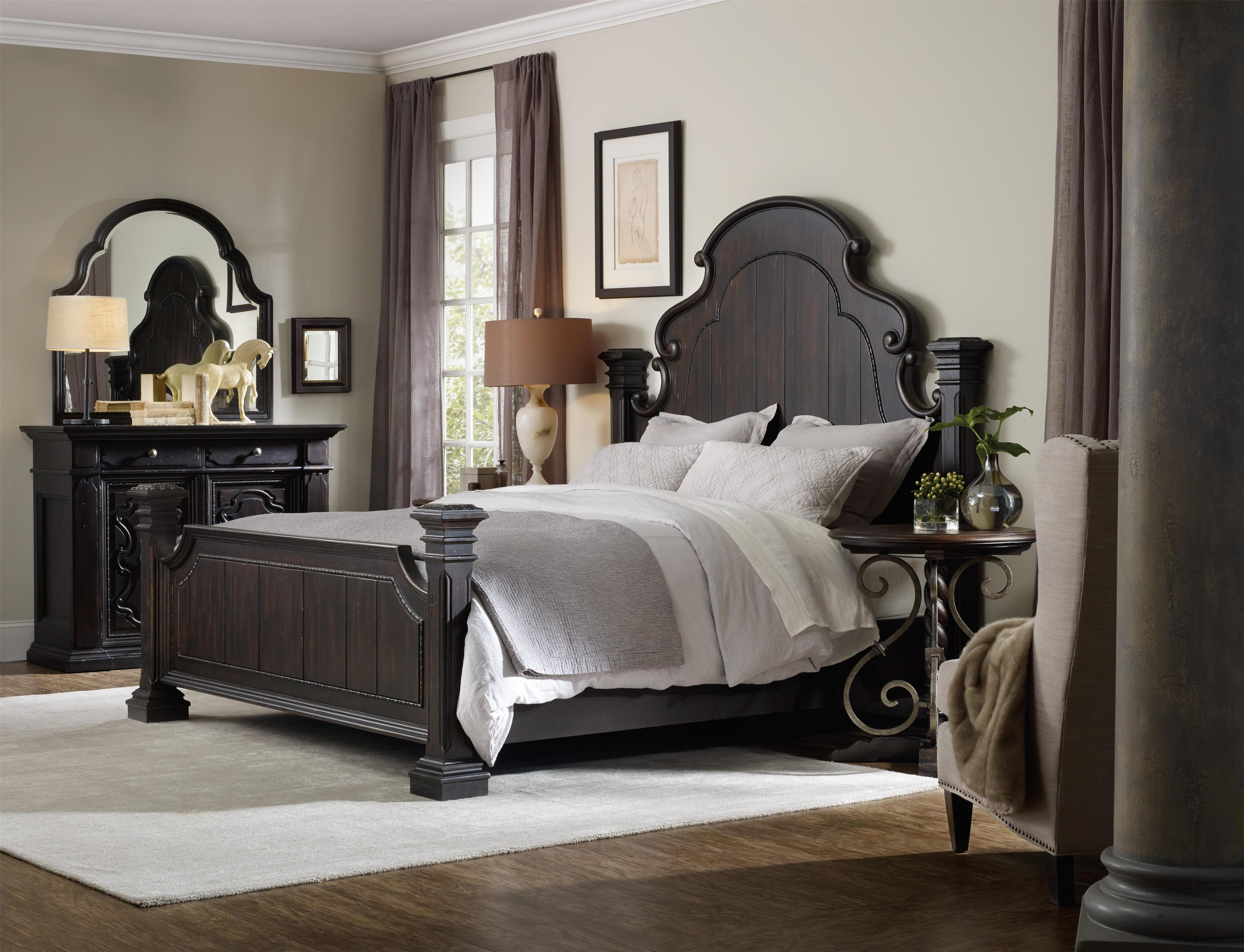 Hooker Furniture Treviso California King Bedroom Group - Item Number: 5374 CK Bedroom Group 3