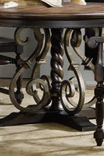 Wrought Iron Metal Scroll Work and Barley Twists Create Romantic Shapes