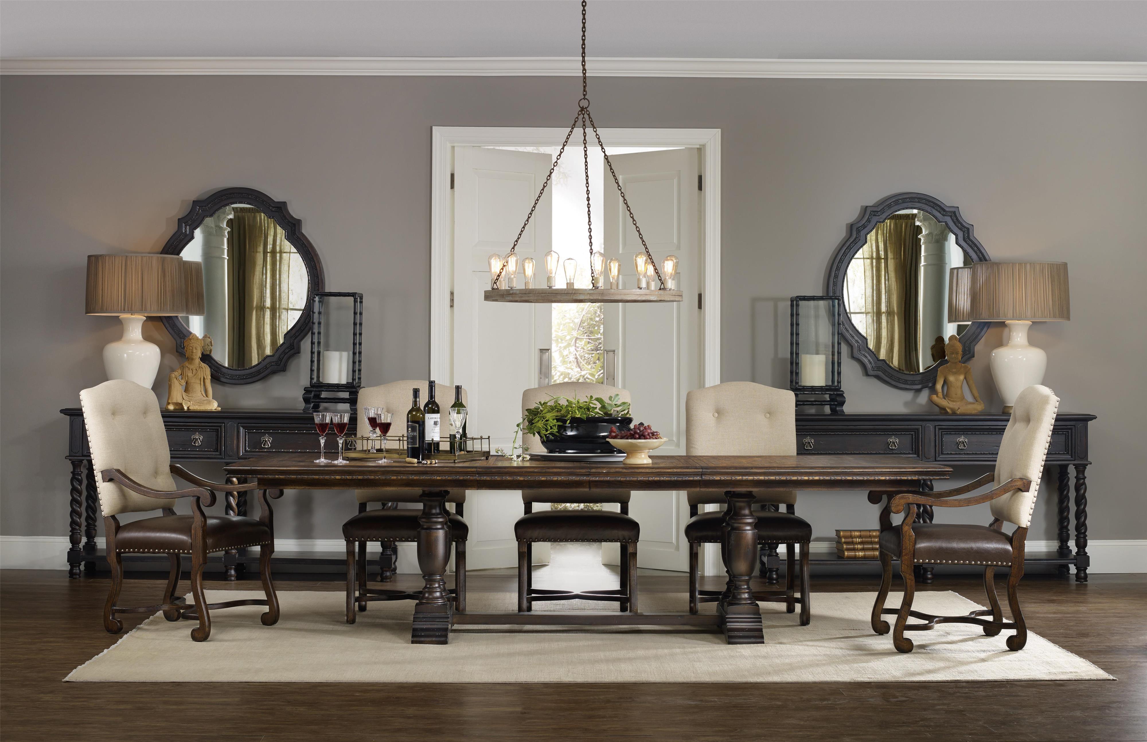 Hooker Furniture Treviso Bar With Flip Top And Wine Shelves   Belfort  Furniture   Bar Cabinet