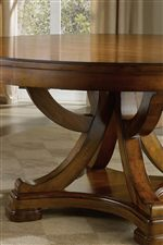 Intricate Supports on Pedestal Table