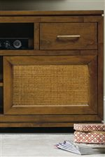 Raffia Door Panel Options on Select Consoles