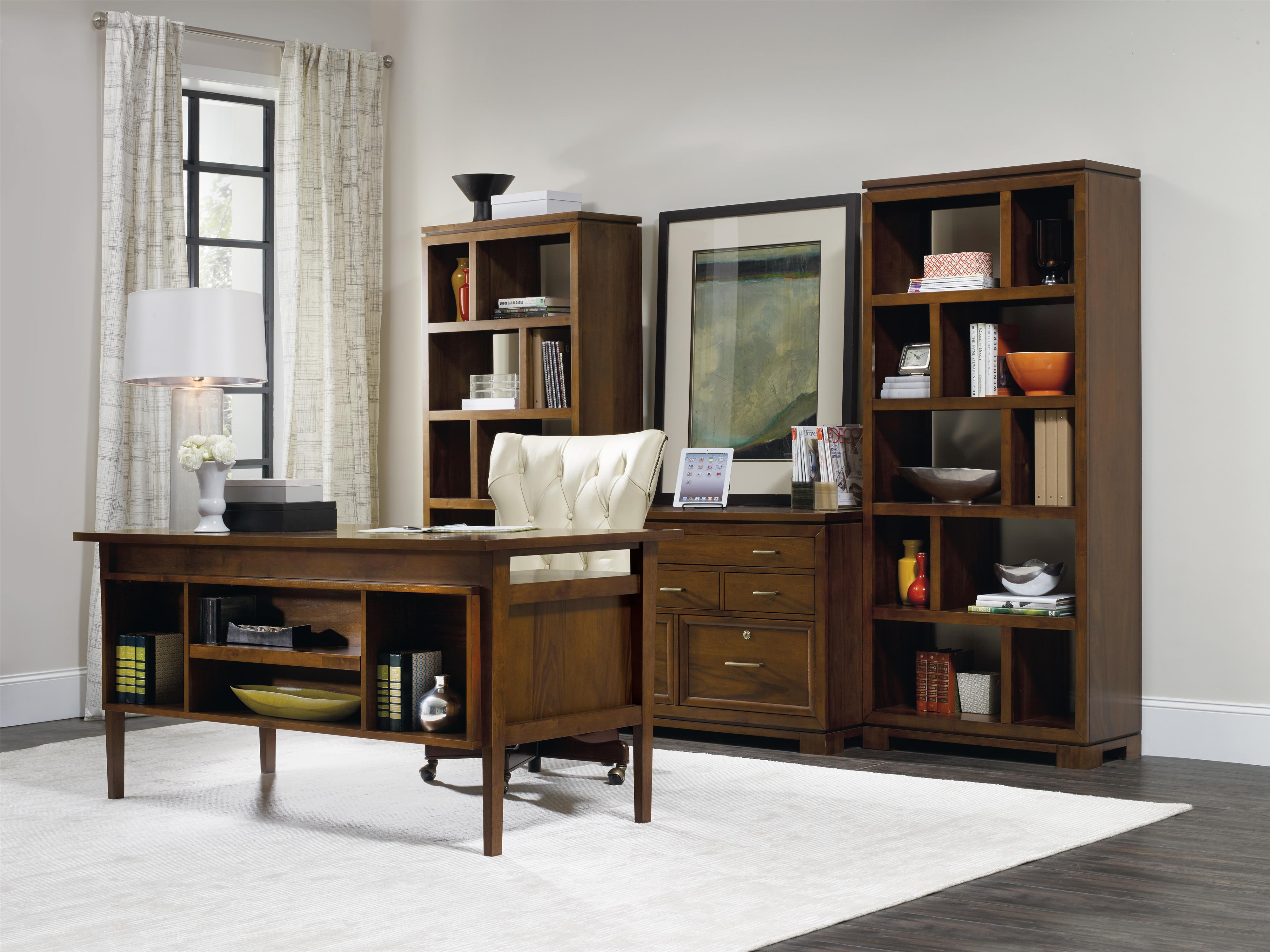 Hooker Furniture Viewpoint Computer Credenza With 6 Drawers | Stuckey  Furniture | Storage Credenzas