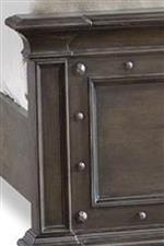 Paneled Footboard with Decorative Nails