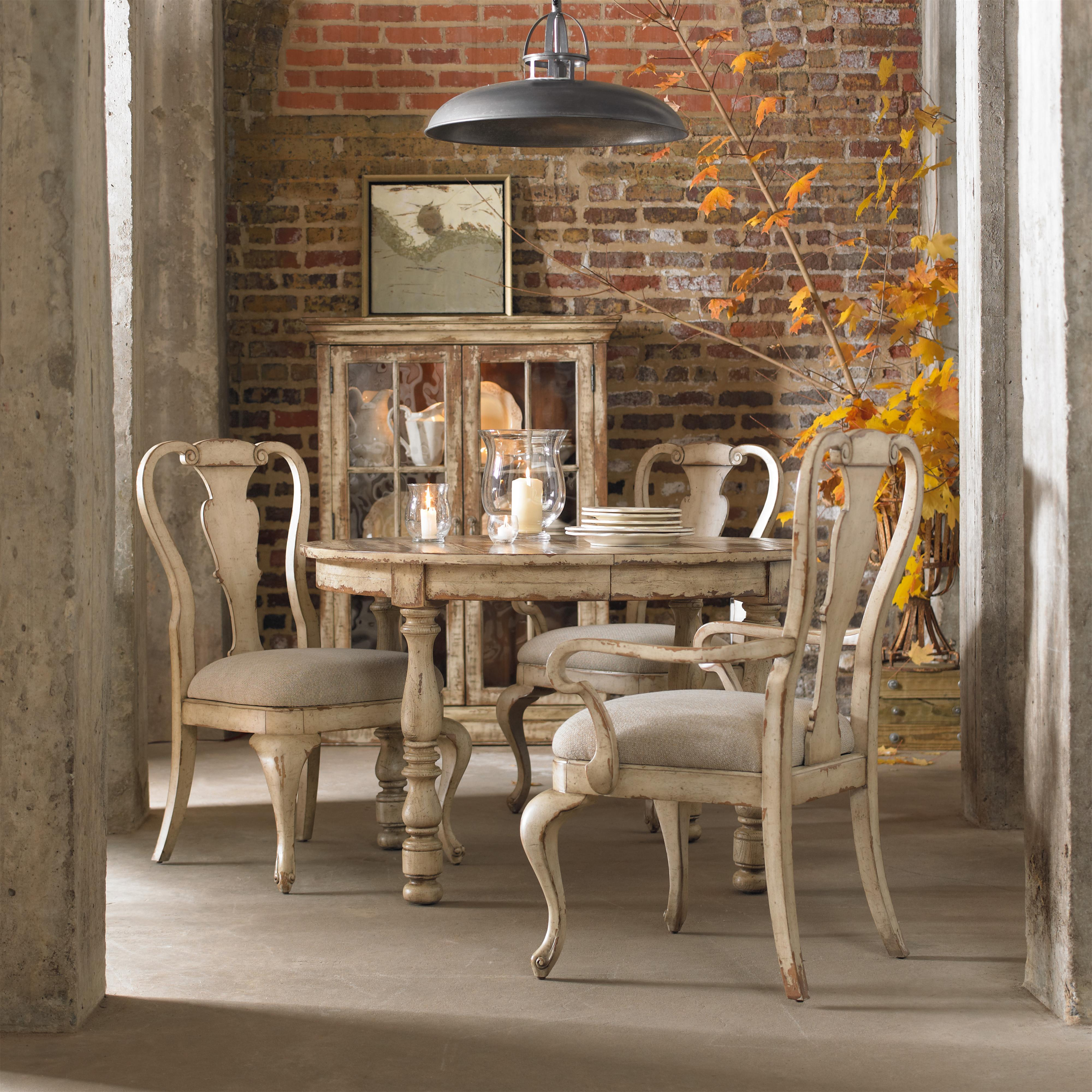 Hamilton Home Wakefield Rectangular Leg Dining Table with Two Tone