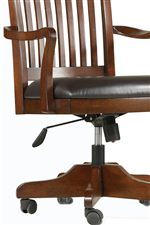 Bonded Leather Seat Upholstery and Adjustable Seat Height Mechanisms