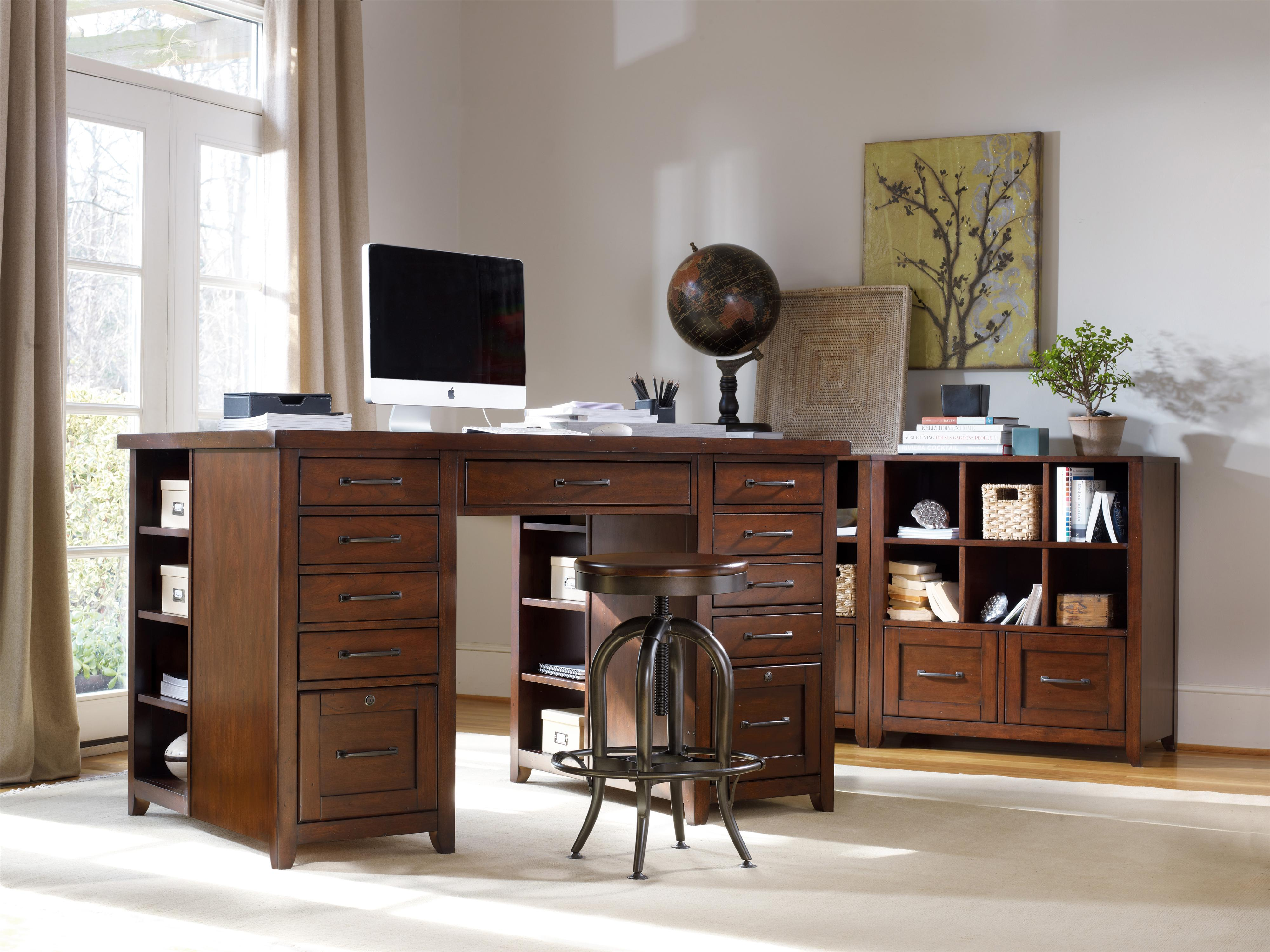 Hooker Furniture Wendover Basic Leg Desk With Drop Front Keyboard Drawer  And 2 Utility Drawers | Boulevard Home Furnishings | Table Desks/Writing  Desks