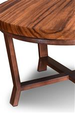Solid Wood Tops on Metal Bases