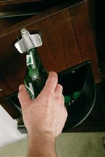 Attached Bottle Opener with Catch Basket