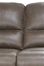 Plush Upholstered Seat Cushions Provide Relaxing Family Room Comfort