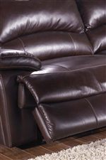 Plush Pad-over-Chaise Seat with Contrast Stitching
