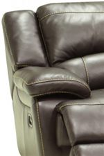 Casual Recliner Cushions Feature Plush Pillowed Tops