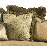 Throw pillows in your choice of fabrics.