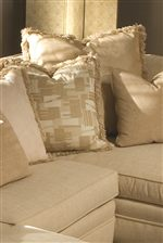 Cozy Ultra Down Seating and Loose Pillows Create a Comfortable Seat
