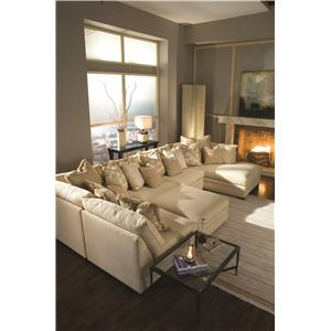 Huntington House 7100 Casual Contemporary L-Shape Sectional Sofa