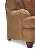 Huntington House 2081 Resting Foot Ottoman on Four Exposed Wood Feet