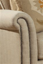 Flared Roll Arm with Nailhead Trim