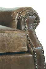 Detailed Rolled Arms with Pleats and Nailhead Trim