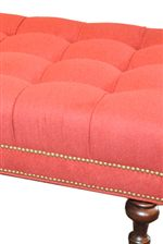 Tufted Seat with Nailhead Trim