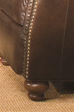 Elegantly Turned Wood Leg