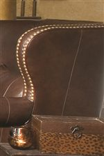 Large Wing Back with Nailhead Trim
