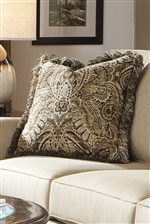 Contrasting Accent Pillow with Fringe Option