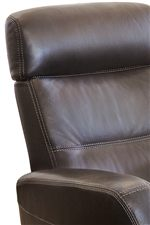 Stitching Detail Featured on the Divani Relaxer Recliner Creates a Dynamic Look