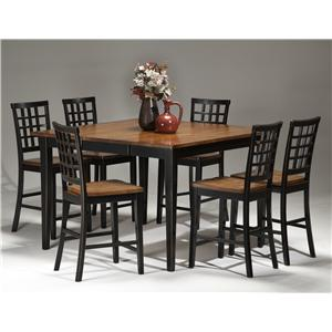 Intercon Arlington Dining Table with Lattice Back Bench & 4 Side Chairs