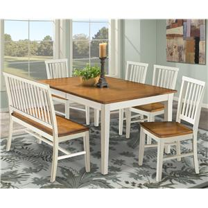 Collection Room Settings Intercon Arlington Dining Table With Slat Back Bench