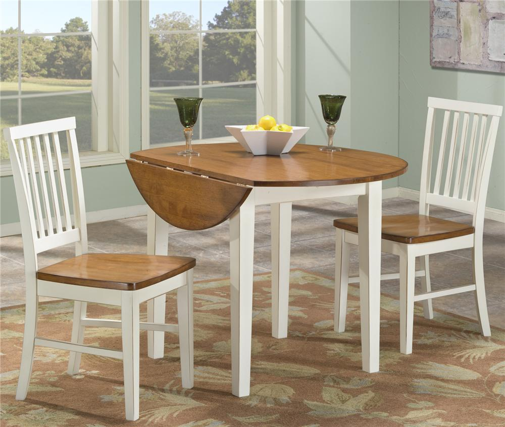 Intercon Arlington 3 Piece Dining Set With Two Drop Leaves | Wayside  Furniture | Dining 3 Piece Set