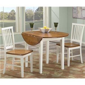 Intercon Arlington Round Drop Leaf Table
