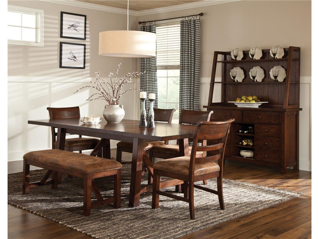 intercon bench creek gathering height dining table wayside