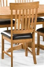 The Look this Slat Back Chair Brings to the Dining Room is Dynamic and Complementary