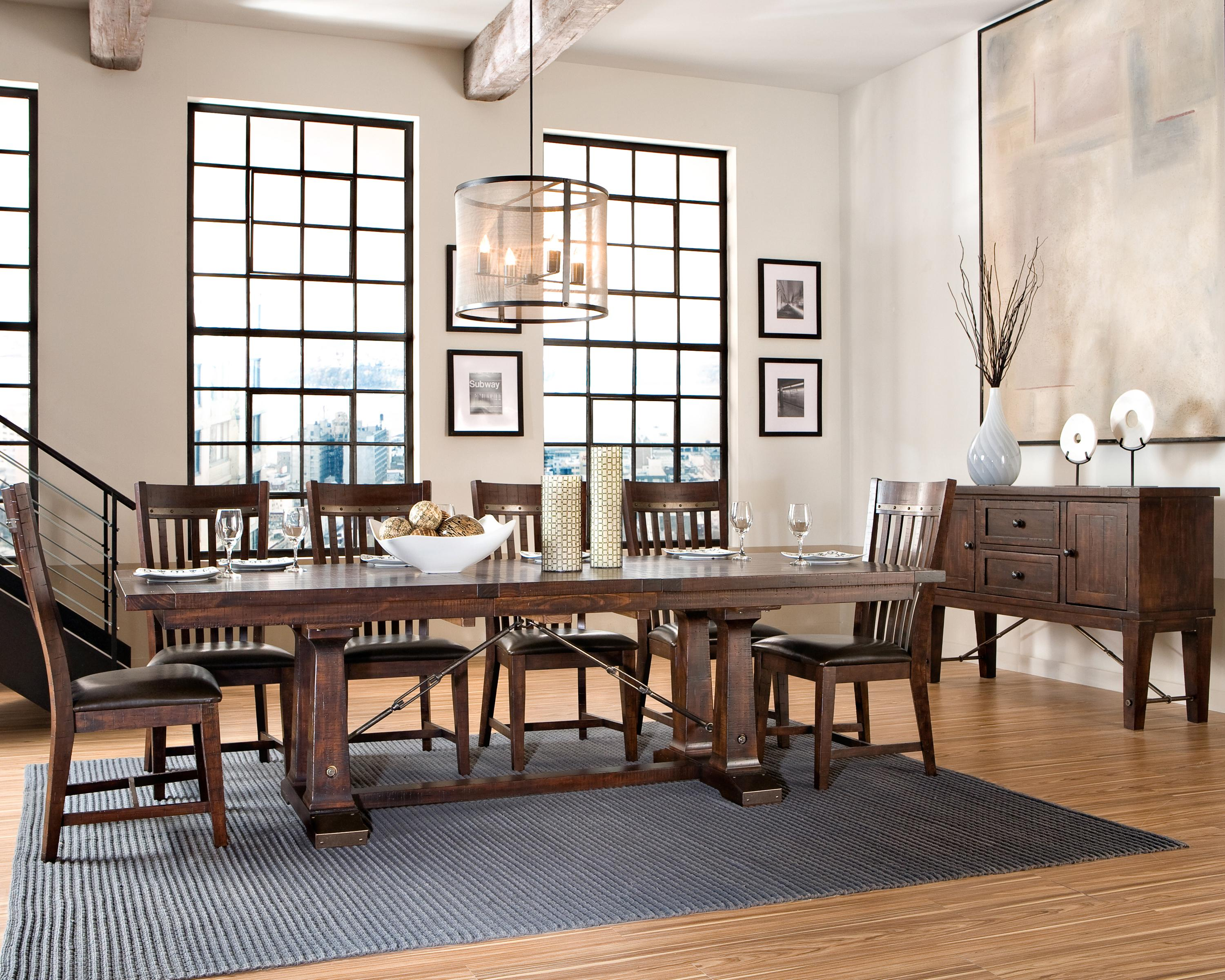 Intercon Hayden Trestle Dining Table With Metal Table Slides | Wayside  Furniture | Dining Room Table