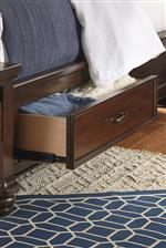 Side Rail Bed Storage Option