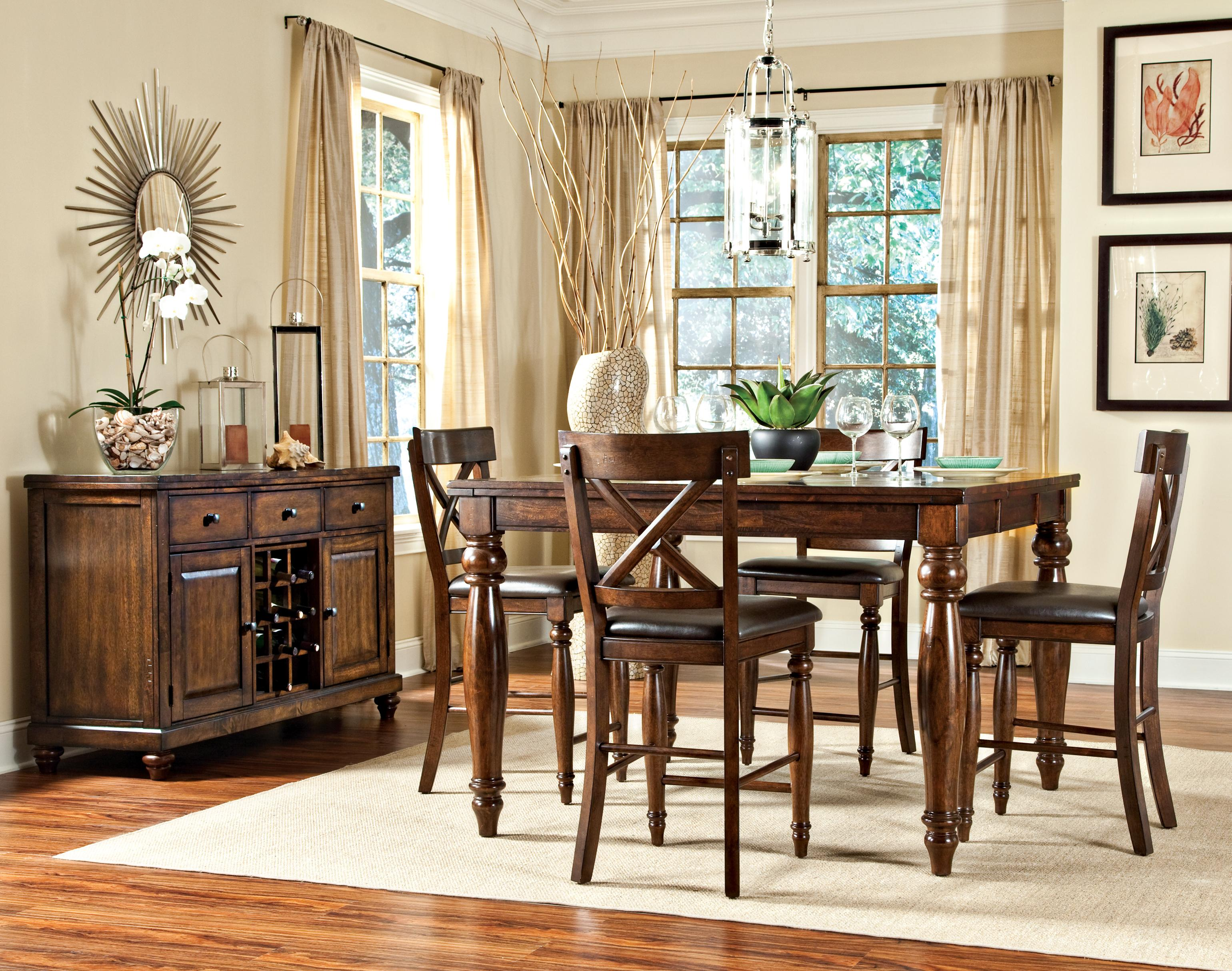 Intercon Kingston Five Piece Gathering Table and Stool Set | Fisher Home Furnishings | Pub Table and Stool Set & Intercon Kingston Five Piece Gathering Table and Stool Set | Fisher ...