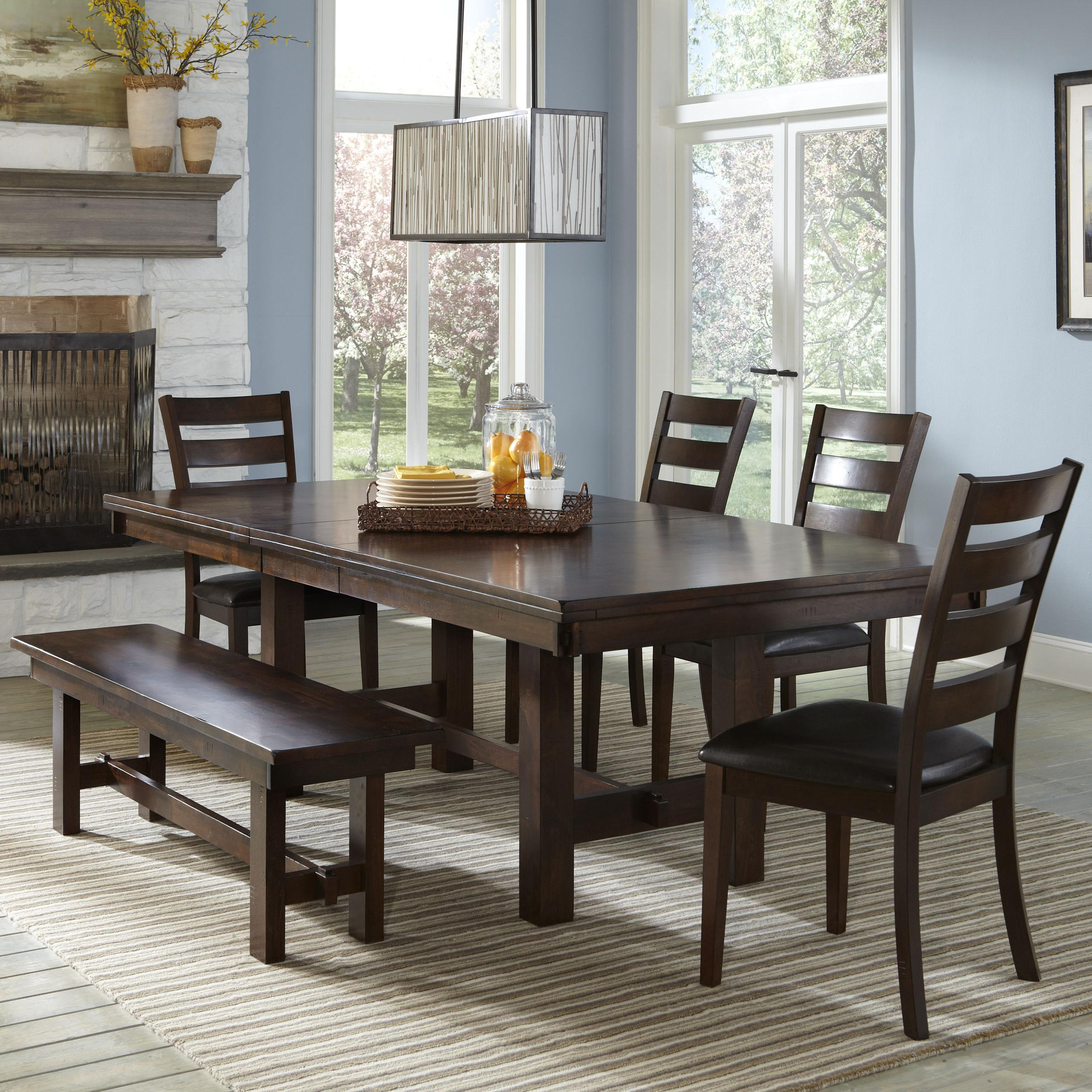 Intercon Kona Solid Mango Wood Dining Table with Butterfly Leaf ...