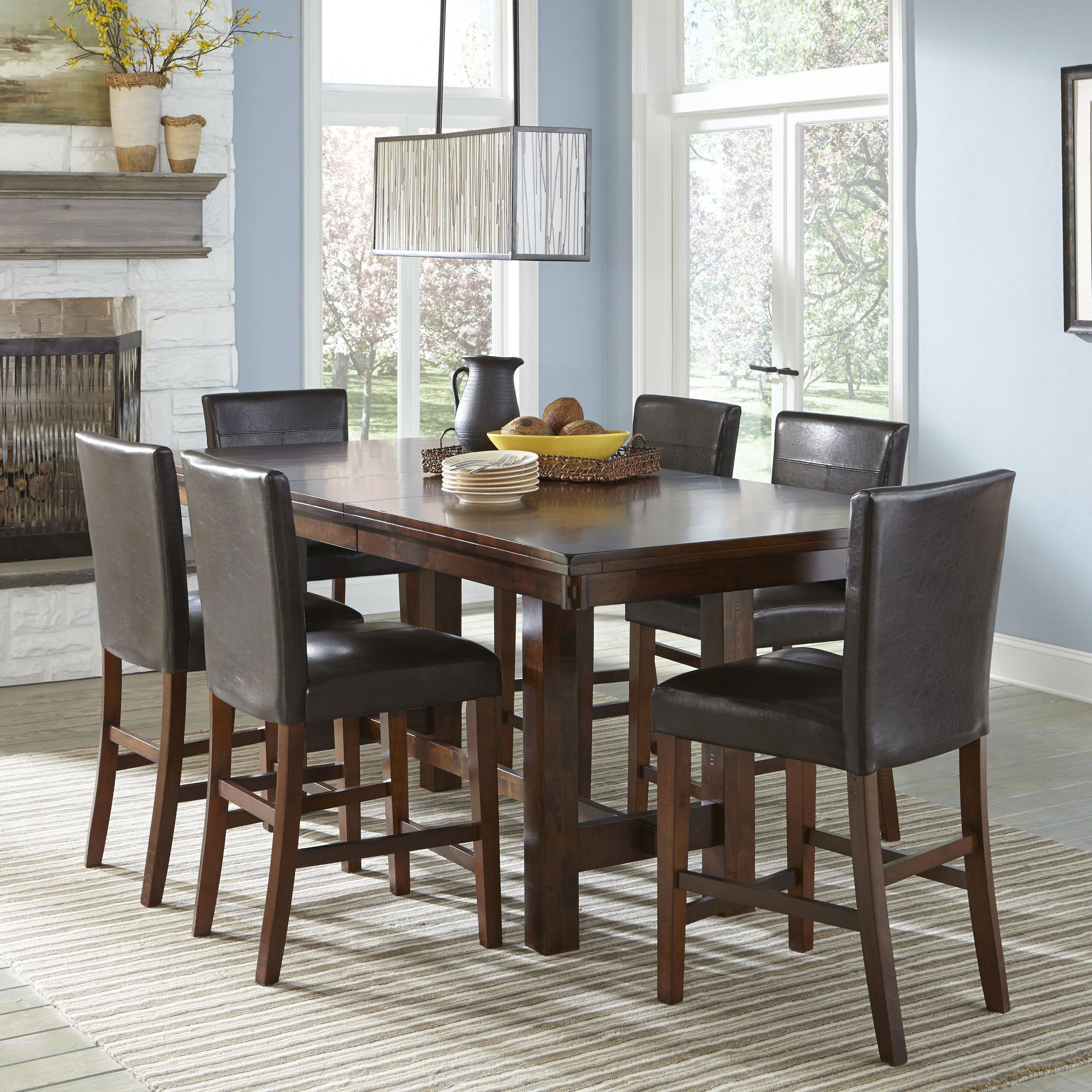 Intercon Kona Counter Height Table with Leaf | Wayside Furniture ...