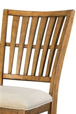 Slat Backs Featured on Dining Chairs and Stools