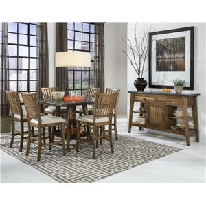 Intercon Lucca Slat Back Side Chair with Cushion