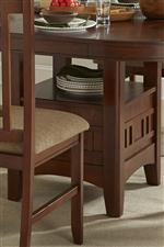 Dining Table Base with Storage