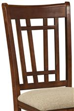 Side Chair with Lattice Back