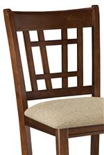 Counter Height Chair with Lattice Back