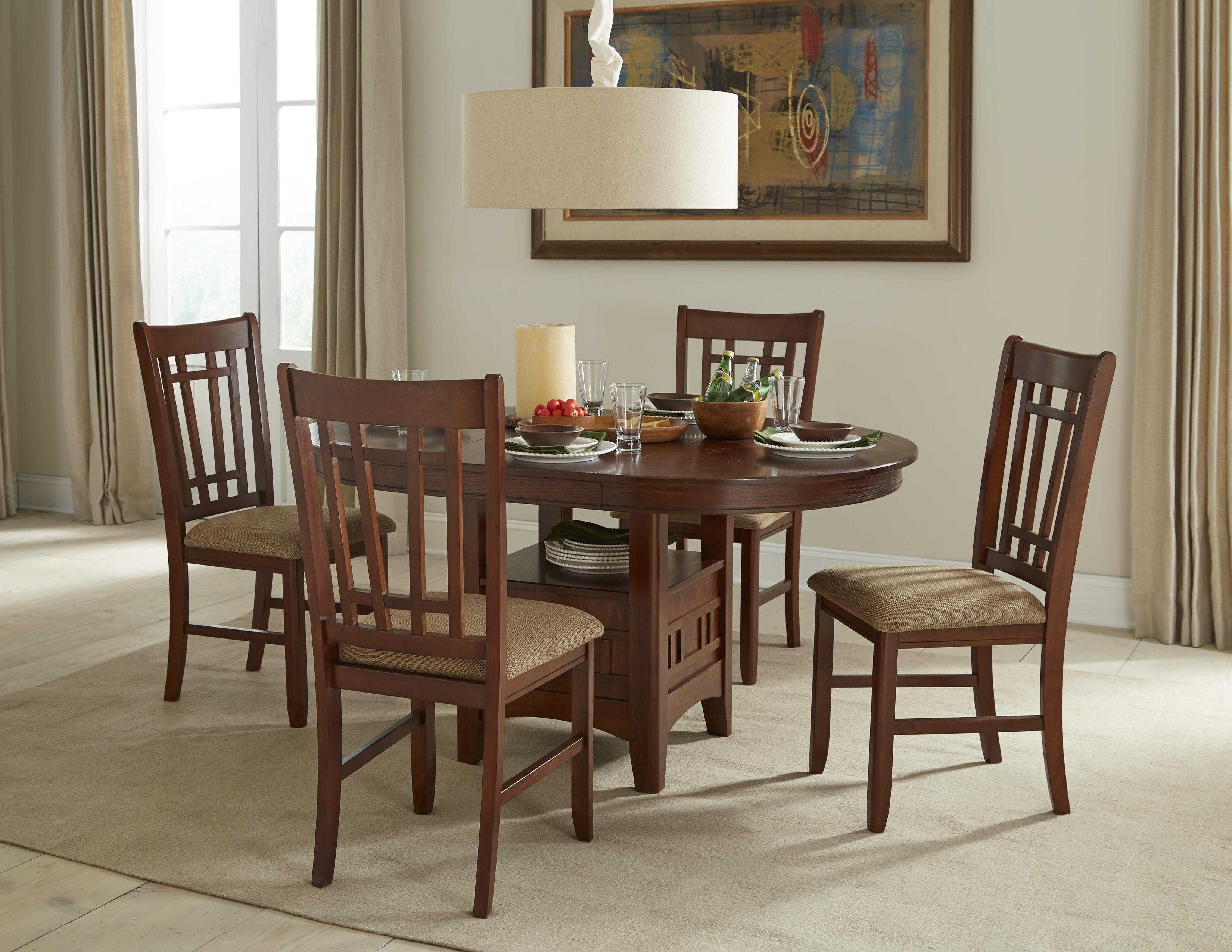 Intercon Mission Casuals Oval Dining Table Set with Cushioned Side Chairs | Wayside Furniture | Dining 5 Piece Set & Intercon Mission Casuals Oval Dining Table Set with Cushioned Side ...