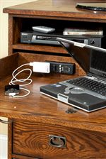 Media Console Offers AC Power Strip