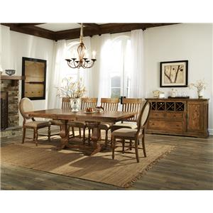 Belfort Select Loudoun Crossing Trestle Dining Table with Leaf