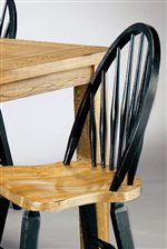 Spindle Back Chair in Two-Tone Finish.