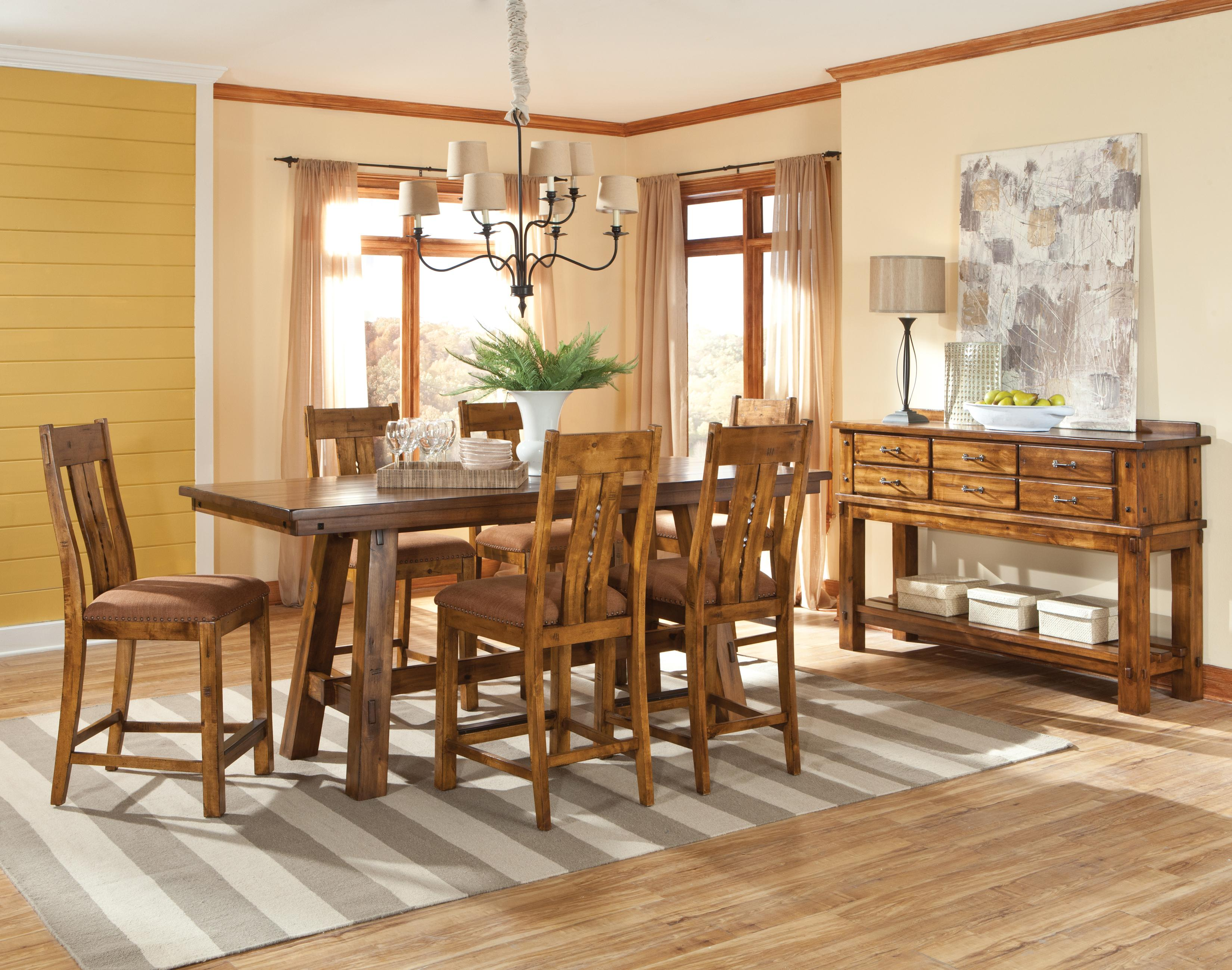 Intercon timberline casual dining room group hudson 39 s for Casual dining room