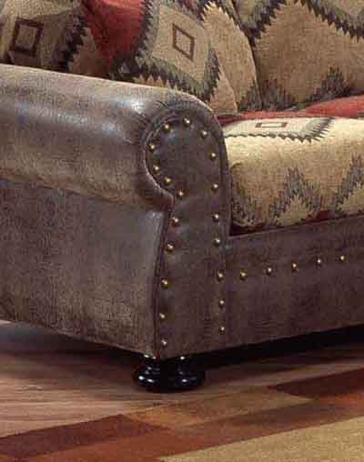 Intermountain Furniture Navajo Southwest Style Sofa   Boulevard Home  Furnishings   Sofa
