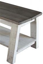 Breakfast Benches With Storage Shelf