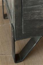 Hand wrought iron feet